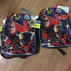 New incredibles backpacks $12 each